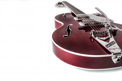music, instruments, electric, guitar, red, gretsch, bigsby