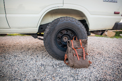 backpack,  bag,  outdoors,  car,  tire,  wheel,  hiking,  equipment,  explore,  nature,  auto,  vehicle,  journey,  recreation