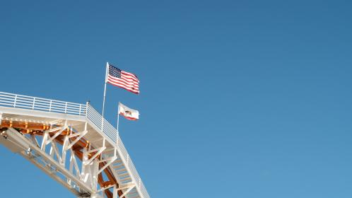 sky, space, blue, flag, american, usa, california, cctv, safety, camera, security, steel