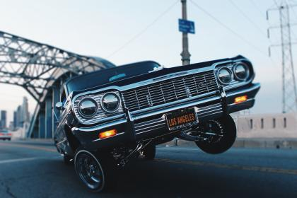 car, low rider, vintage, oldschool, automotive, driving, Los Angeles, road, street, pavement