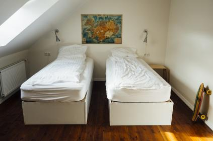 free photo of room  beds