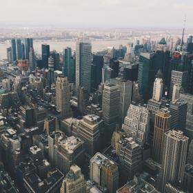 New York, city, buildings, architecture, towers, high rises, aerial, view, urban, skyscrapers, downtown