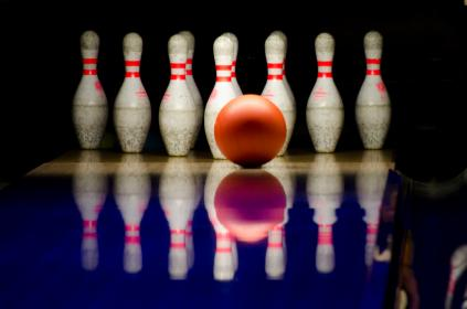 free photo of bowling alley  ball