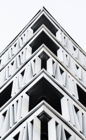 architecture, building, infrastructure, black and white, edge