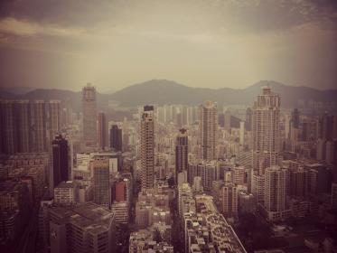 hong kong, buildings, architecture, city, towers, skyscrapers, high rises, aerial, view, urban