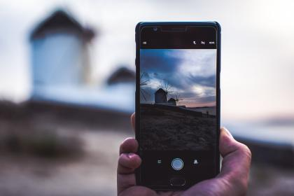 mobile, phone, camera, photography, electronic, gadget, modern, technology, touchscreen, nature, hand