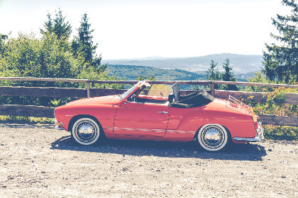 vintage,   red,   automobile,   car,   chrome,   classic,   convertible,   daytime,   design,   hood,   luxury,   noon,   outdoors,   outside,   red car,   road,   style,   transport,   trees,   vehicle,   wheels,   windshield