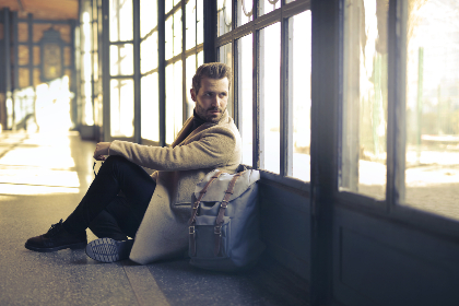 man,  waiting,  patiently,  sitting,  window,  worried,  time,  handsome,  male,  people,  fashion,  stylish