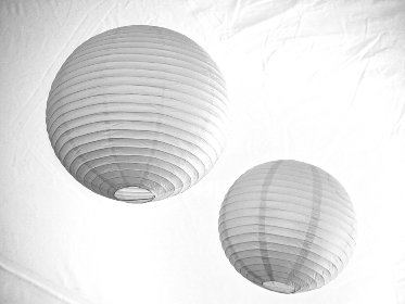 lanterns,   lantern,   hanging,   paper,   decoration,   design,   chinese,   asian,   light,   objects,   lamp,  white,  minimal,  monochromatic