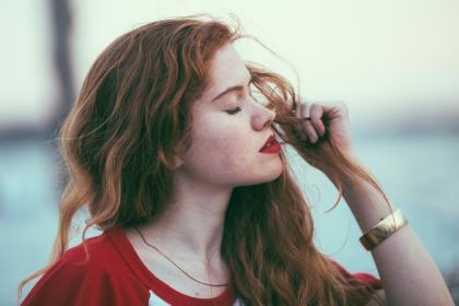 people, girl, lady, woman, red, redhead, gold, bangles