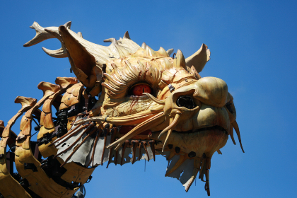 dragon,  head,  art,  statue,  sky,  celebration,  animal,  ancient,  asian,  oriental,  chinese,  festival,  power,  fantasy,  sculpture