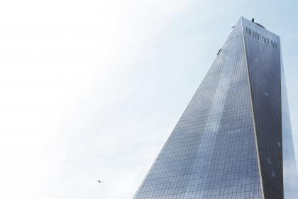 office, corporate, building, city, architecture, sky, clouds, airplane, windows, skyscraper, New York, NYC, world trade center