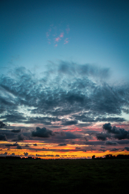 sunset,  sky,  view,  clouds, dusk, clouds, night, evening