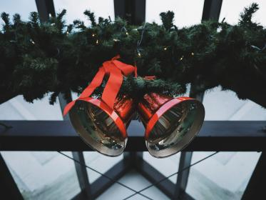 christmas, day, decor, bell, house