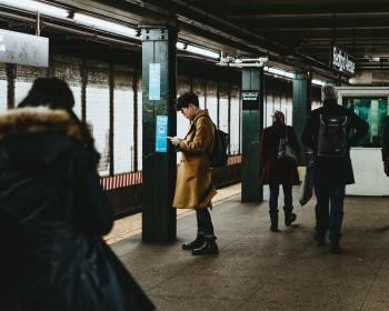 people, man, waiting, station, train, trail, rail, underpass