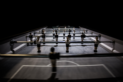 fussball,   table,  players,  football,  soccer,  sport,  game,  goalkeeper,  goal,  light,  dark,  pitch,  box,  penalty