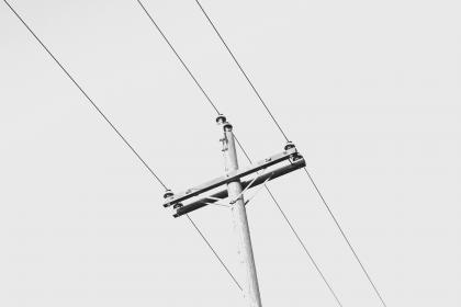 cable, wire, pole, electrical, transmission