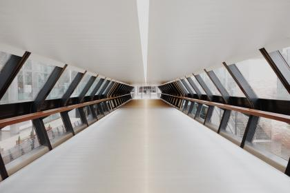 architecture, building, infrastructure, pathway, hallway, overpass, ceiling