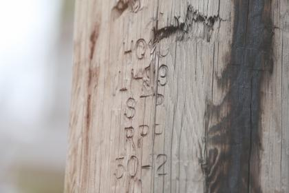 wood, post, numbers, letters, writing