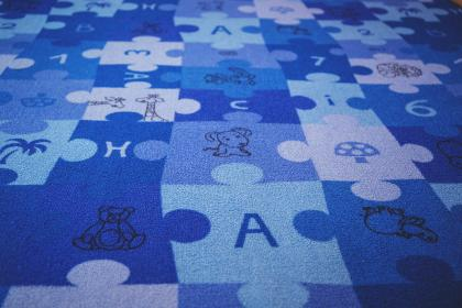 blue, puzzle, carpet, letters, numbers, children, kids