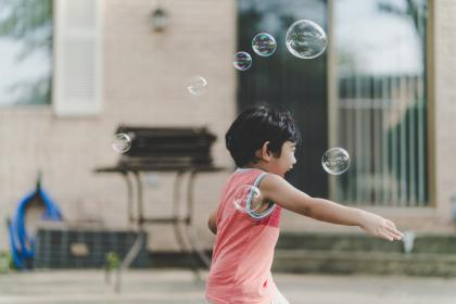 people, kid, child, baby, play, bubble, outdoor, laugh, happy, childhood