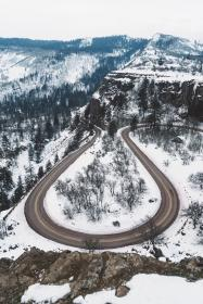 snow, winter, white, cold, weather, ice, trees, plants, nature, travel, adventure, road, forest, woods