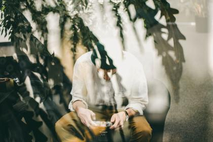 people, man, camera, lens, photography, photographer, double exposure, leaves, trees, plant, sit