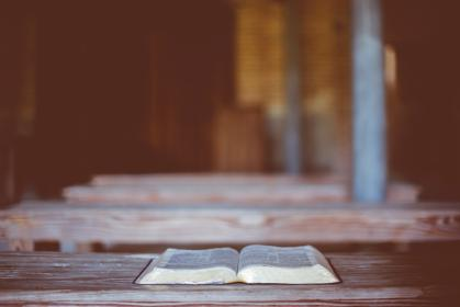 book, bible, reading, table, blur
