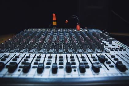 sound, mixer, electronic, technology, audio, equipment, panel, volume, music, sliding, button