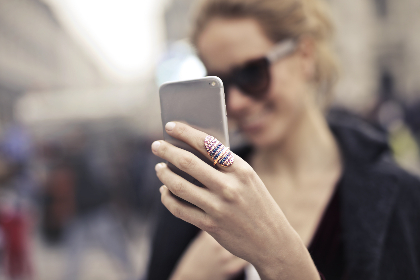 woman,  selfie,  phone,  device,  technology,  photograph,  photographer,  sunglasses,  ring,  smile,  female,  girl,  hand,  people
