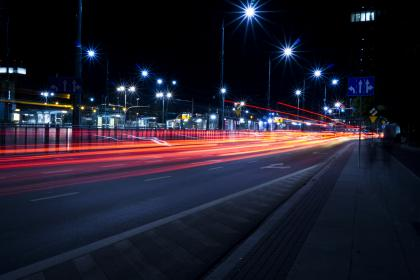 architecture, evening, night, highway, lights, long exposure, road, sign, street, time-lapse, travel, lighting