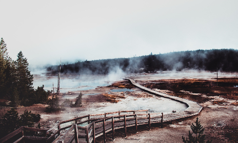boardwalk,  travel,  road,  path,  traveling,  Yellowstone,  hot springs,  National Park,  Montana