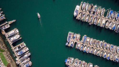 sea, ocean, water, nature, boat, yacht, sailing, transportation, travel, outdoor, aerial, view