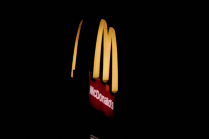 vintage,  mcdonalds,  sign,  yellow,  red,  advertising,  neon,  night,  dark,  ad