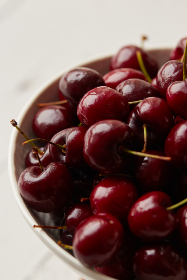 cherries,  bowl,  fruit,  close up,  food,  fresh,  diet,  breakfast,  healthy,  natural,  ingredient,  organic,  group,  juicy,  eating,  red,  berry