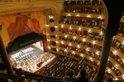 Teatro Colon, Buenos Aires, Argentina, theatre, stage, seats, play, art, show, people, spectators, crowd