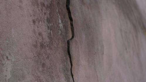 crack, wall, old, paint, lichens, stains, dirt, dark