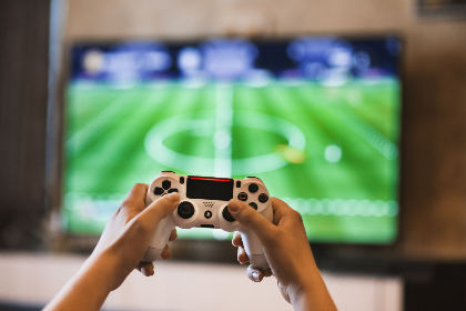 gamer,  controller,  television,  console,  football,  game,  fifa,  soccer,  hands