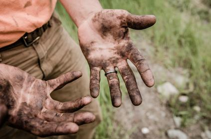 people, male, dirty, hand, palm, outdoor