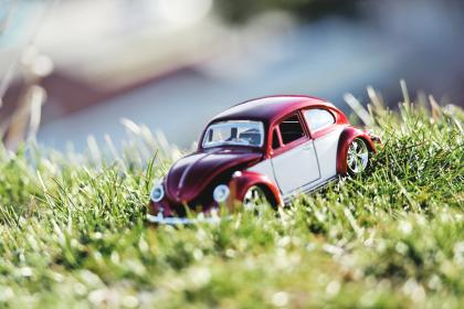 crafts, hobby, miniature, cars, still, items, things, toys, model, scale, grass, bokeh