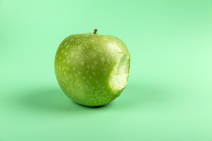 apple,   green,  background,  bite,  wallpaper,  hd,  hd wallpaper,  fruit,  food,  eat,  core