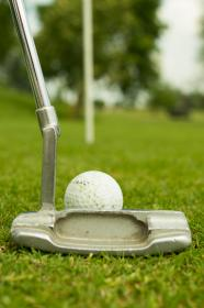 golf, ball, putter, green, sports