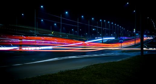 architecture, blur, bridge, evening, night, highway, light, long exposure, road, street, time-lapse, travel