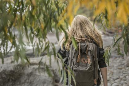 people, girl, travel, adventure, hiking, outdoor, trees, plant, backpack