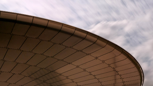 abstract,   background,  building,  futuristic,  curve,  modern,  perspective, architecture, metal, sky, clouds