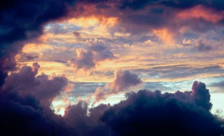 nature, clouds, sky, colorful, fluffy