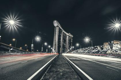urban, city, dark, night, road, highway, lights, long exposure, travel, adventure