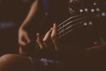 sound, music, bass, guitar, people, fingers, hand, fret, electric