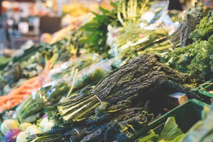 green, leaf, vegetables, market, grocery, food