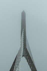 bridge,   city,   angle,   architecture,   structure,   modern,   cable,   lines,   tower,   sky,   clouds,   design,  fog,  weather,  misty,  abstract,  moody